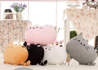 Wholesale Cat pillow skin with Zipper without PP cotton biscuits cat big cushion pusheen sleeping pillow