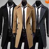 Wholesale S47 autumn and winter new full sleeves fashion men trench coat hot cotton to keep warm comfortable long trench coats