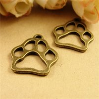 bear paw jewelry - New Bear Paw print Charms Antique Bronze STYLE Fit Jewelry Making Diy Craft A3666