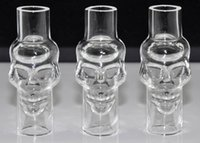 Cheap E Cig Electronic Cigarette Skull Holder Glass Cover For Glass Globe Vhit Seego Type-C Atomizer Tank Cover Vape Vaporizer G Pen