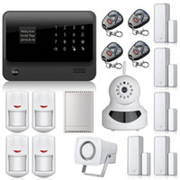 app cameras - G90B WiFi alarm Internet GSM GPRS SMS OLED Home House Security Alarm System APP Control IP Camera wifi App Integrated In Alarm App