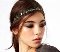 hair sparkle - Elegant Woman Lady Green Rihinestone Beads Headbands Women Ladies Sparkling Stars Beaded Hair Band Jewelry Girls Party Hairband D3727