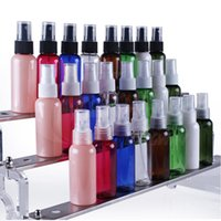 ship spray bottles - 50ml Plastic spray bottle packing containers round shoulder bottle clolors can select