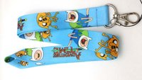 adventure time badge - DHL Adventure Time Lanyard Styles Key Chain ID Badge Holder Protector quot mobile phone charms straps