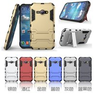 aces high cover - For Sumsung Galaxy J1 Ace High Quality in PC Hard Silicone Armor Dual Stand Case Heavy Duty Hybrid Case Cover With Holder