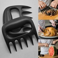 Cheap Hot Useful Polar Bear Paws Carve Claws Meat Handle Fork Tongs Lift Shred Lift BBQ Grill Pork Randomly