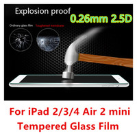 Wholesale For ipad mini mm H D Hardness Real Tempered Glass Screen Protector for IPAD AIR