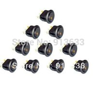 Wholesale In stock V Round Rocker Dot Yellow LED Light Toggle Switch SPST Car Auto Boat