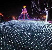 Filets de lumières lumières de feux clignotants LED rideau de chaîne d'éclairage la lumière avec des lumières de Noël lanterne 2x décoration 3 mètres