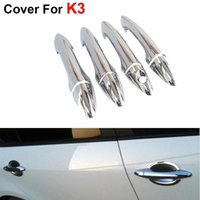 Wholesale 4pcs Fashion Stickers Cover Decoration Car Styling ABS Door Handle For KIA K3 Cerato Accessories Newest