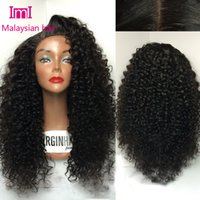 Wholesale Sexy deep curly malaysian human hair silk base wig silk top lace front wig glueless full lace wig with baby hair