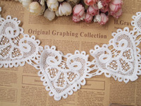 Wholesale Lace White Venise Lace Trim Embroidery Scalloped Lace for Bridal Millinery Wedding Gowns Victorian yards