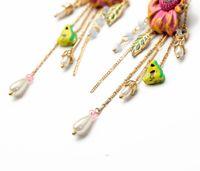 big butterfly earrings - Elegant Flower Tassel Earrings For Women French Brand Les Nereides Luxury Jewelry Good Gift Big Flower Cute Butterfly Earring