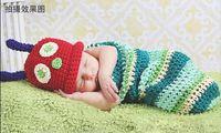 100% wool suits - Set Newborn Infant Handmade Crocheted Knit Wool lovely suit caterpillars