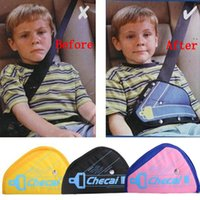 baby seat fitting - Safe fit thickening car safety belt adjust device baby child safety belt protector seat belt positioner colors