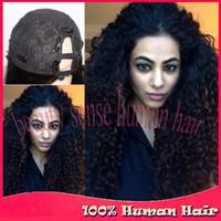 Wholesale Cheap Unprocessed Peruvian hair U part wigs Density U part wig kinky curly virgin human hair for Afro Americans