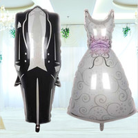 balloon wedding dress - Bridal Dresses Grooms Dress Balloons wedding wedding marriage room decorate adornment balloons Wedding Decorations New W6545