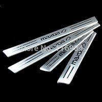 Wholesale Stainless steel Door sill scuff plate Guards cover trim for Mazda