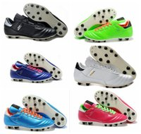 Wholesale 2016 new outdoor football shoes mens Copa Mundial FG Black White soccer shoes cheap football boots size39