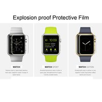 HD Screen Protector anti shock watch - For Apple Watch Matte HD Clear Silver Drill Explosion proof tempered glass Protective Film Shock proof Screen Protector Protective Film