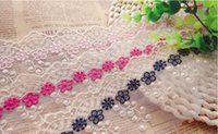 hand embroidered garments - 15yards piece Exquisite flower embroidered tulle lace trim mesh ribbon tape trimmings cm colors for hair bow garment DIY hand craft