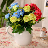 article chocolate - Artificial Tea Rose party decoration real touch silk flowers colors Mother s Day gift artificial plants Decorative articles freeship
