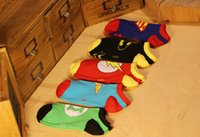cartoon slippers - DHL hot DC superhero socks Superman batman wonder woman footsocks Breathable cotton cartoon sock slippers For Adult J010901