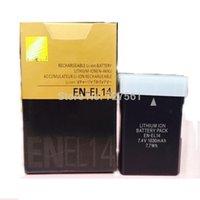 Wholesale EN EL14 Digital Batteries ENEL14 EN EL14 Digital Camera Battery Pack For Nikon D5200 D3100 D3200 D5100 P7000 P7100 MH Bateria