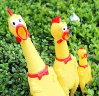 Wholesale New Fashion Funny Vent Long Neck Chicken Shrilling Chicken Sound Squeeze Screaming Toy