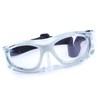 Wholesale Tennis Soccer Football Basketball Sports Goggle Glasses Frame to match optical lens for Myopia Nearsighted White Gray