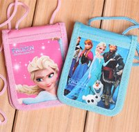 Wholesale 2015 New Frozen Cartoon Elsa Anna ID HOLDER vertical canvas holder frozen card holder student card holder with sling A