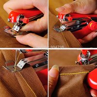 Wholesale 1pcs Hot Selling Useful Portable needlework Cordless Mini Hand Held Clothes Fabrics Sewing Machine tinyaa