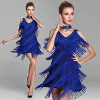Wholesale women dance dress latin tassels dance clothes performances latin dance costumes Modern sequined dance wear freeshipping