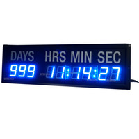 Wholesale Blue LED Countdown Clock In Days Hours Minutes Seconds Every Hours Decrease Day Countdown And Count Up Days Until Event For Gift Office