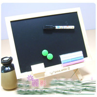 board eraser with marker - Large Logs Magnetic Black White Drawing Board Writing Board with Eraser Marker Chalk Magnet