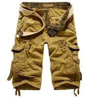 big cargo shorts - 2015 New Summer Men s Casual Loose Cargo shorts Multi Pocket Military Shorts Trouser Big Size