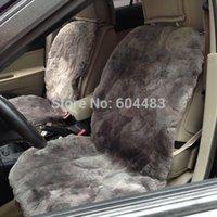 sheepskin car seat covers - 2Piece Sheepskin Car Seat Covers Gray Patchwork Skin Not Cap
