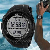 Sport lovers' Water Resistant 2015 Sports Watches Cool Fashion Men LCD Digital waterproof Rubber Stopwatch Date Wrist Watch Sports Meter Dial Watch lb