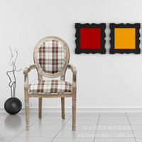 Wholesale New high end solid wood chair plaid chair furniture factory direct