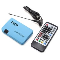 Wholesale Digital TV Box LCD CRT VGA AV Tuner DVB T Free View Receiver Converter For Computer TV With EU Plug