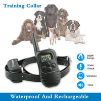 Wholesale m Remote Control Dog Training Collar Petainer Dog Product Waterproof And Rechargeable Levels LCD Display