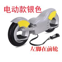 Wholesale Somatosensory electric unicycle balancing off road vehicle travel smart thinking wheeled electric scooters Before his left foot in silver