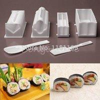 Wholesale 10Pcs1Set Plastic kit Sushi Tools Rice Ball Set DIY Japanese Porphyrilic Cake Roll Mold Sushi Multifunctional Mould Suit Maker