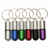 aids pills - 2015 Brand New Waterproof Aluminum Mini Medicine Pill Box Case Bottle Drug Holder First Aid Gallipot Keychain Container