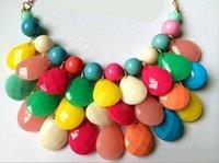 Wholesale Women Vintage Chains Bubble Bib Necklace Teardrop Statement Necklace choker necklace sets