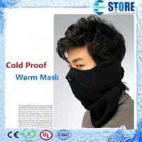 Wholesale Thermal Neck Warmer Fleece Balaclavas Headgear Winter Skiing Ear Windproof Warm Face Mask Motorcycle Cold Proof Scarf A