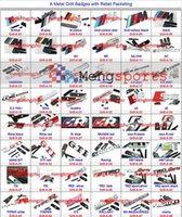 Wholesale 100pcs V8 V6 Snake Sport M TDI Rline Rabbit Metal Grill Badges Emblem