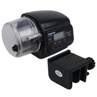 Wholesale New Automatic Feeder Aquarium Automatic Feeding Device Small Timing Feeding Black Color