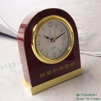 Wholesale Bell Chinese red wooden bedside lights automatically muted metal Sweep silent quartz wooden bedside alarm clock