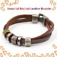 alphabet bracelet patterns - 2015 Hot Sale Charm Bracelet Leather Bracelet Alphabet Pattern Gold Fashion Bracelet Jewelry For Women Man